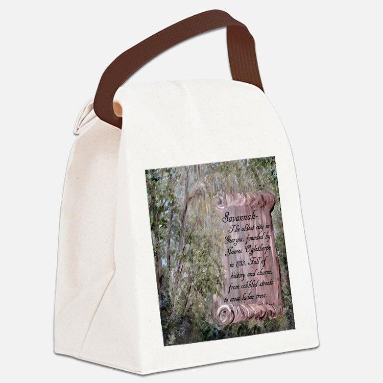 Cute Savannah Canvas Lunch Bag