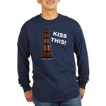Kiss This Long Sleeve Dark T-Shirt
