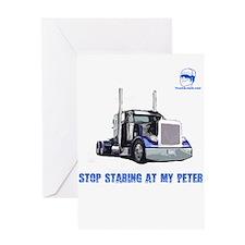 Stop staring at my Peter Greeting Card