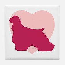Cocker Spaniel Valentine's Day Tile Coaster