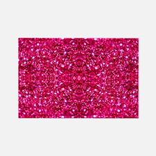 Cute Glittery Rectangle Magnet