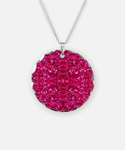 hot pink glitter Necklace