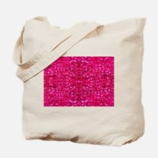 hot pink glitter Tote Bag