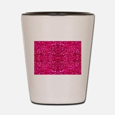 hot pink glitter Shot Glass