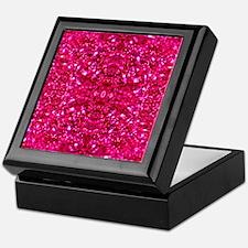 hot pink glitter Keepsake Box