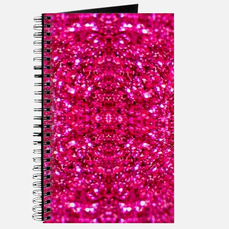 hot pink glitter Journal