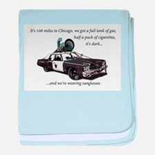 Bluesmobile baby blanket