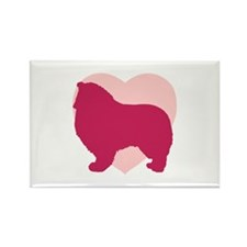 Collie Valentine's Day Rectangle Magnet (100 pack)