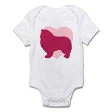 Collie Valentine's Day Infant Bodysuit