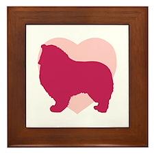 Collie Valentine's Day Framed Tile