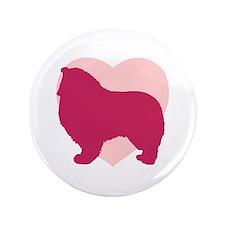 """Collie Valentine's Day 3.5"""" Button (100 pack)"""
