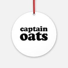 Captain Oats (b) Round Ornament
