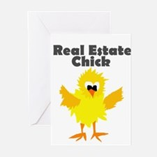 Real Estate Chick Art Greeting Cards