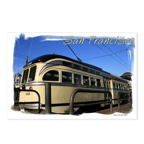 San Francisco Cable Car Postcards (Package of 8)
