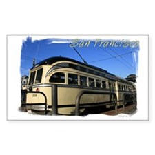 San Francisco Cable Car Rectangle Decal
