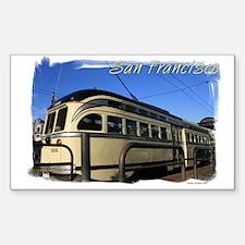 San Francisco Cable Car Rectangle Decal