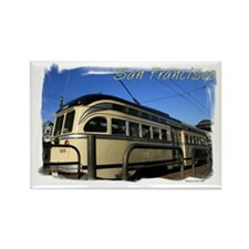 San Francisco Cable Car Rectangle Magnet