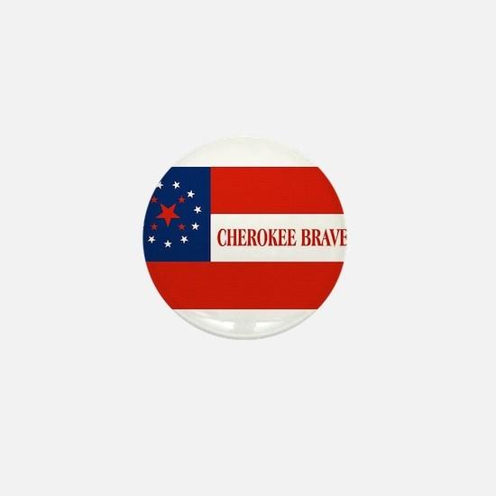 Cherokee Braves Flag, United States Mini Button