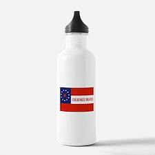 Cherokee Braves Flag, Water Bottle