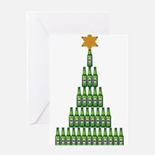 Beer Christmas Tree Greeting Cards