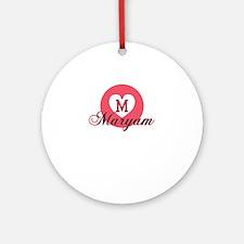 maryam Round Ornament