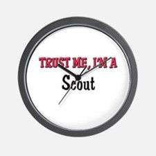Trust Me I'm a Scout Wall Clock