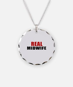 Real Midwife Necklace Circle Charm