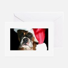 christmas boxer do Greeting Cards