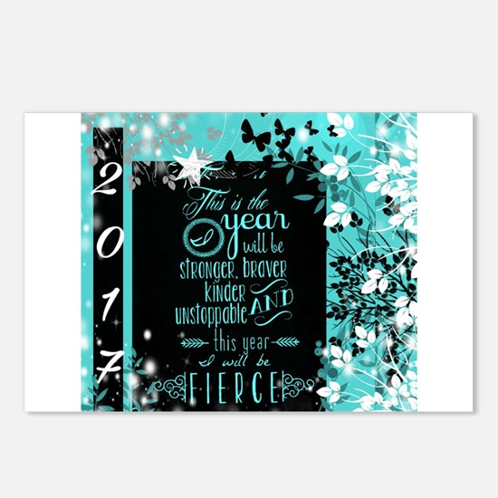 New Years 2017 Postcards (Package of 8)