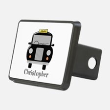 Personalized Black Taxi Cab Design Hitch Cover