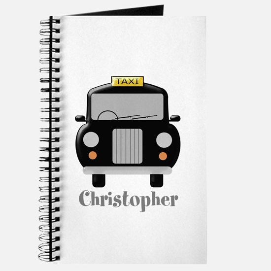 Personalized Black Taxi Cab Design Journal