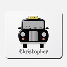 Personalized Black Taxi Cab Design Mousepad