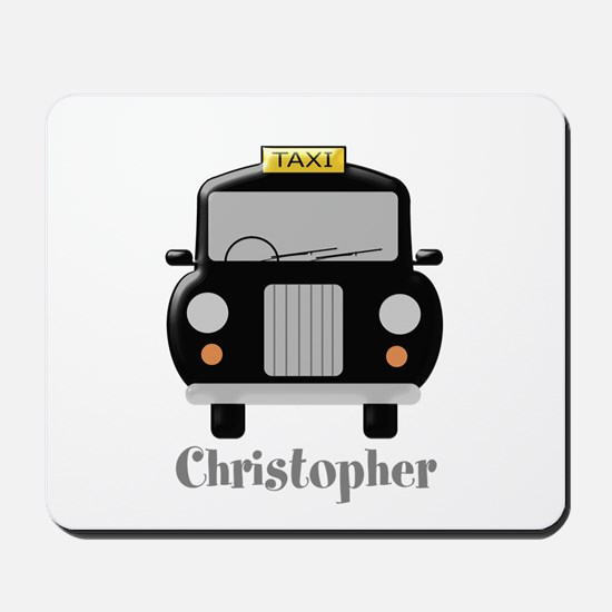 Personalized Black Taxi Cab Design Mousepad