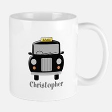 Personalized Black Taxi Cab Design Mugs