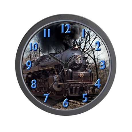 Old Steam Engine Wall Clock