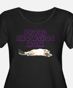 Proud Snowshoe Mom Plus Size T-Shirt