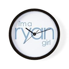 Ryan Girl ~  Wall Clock