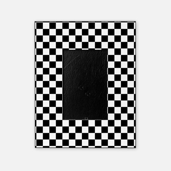 Black Checkers Picture Frame