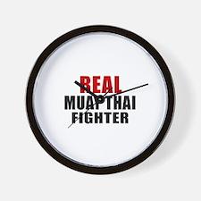 Real Muay Thai Fighter Wall Clock