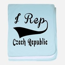 I Rep Czech Republic baby blanket
