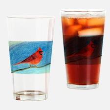 Cardinal Drawing Drinking Glass