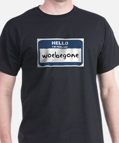 Feeling woebegone Ash Grey T-Shirt