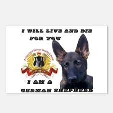 I will Live and Die Postcards (Package of 8)
