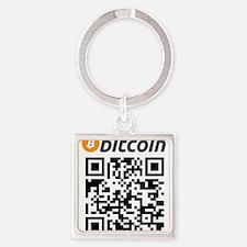 Bitcoin QR Code Keychains