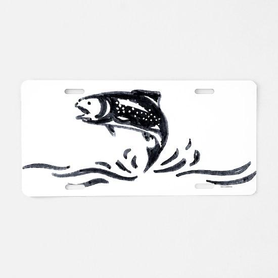 Trout Aluminum License Plate