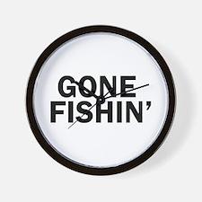 Cute Funny fishing Wall Clock