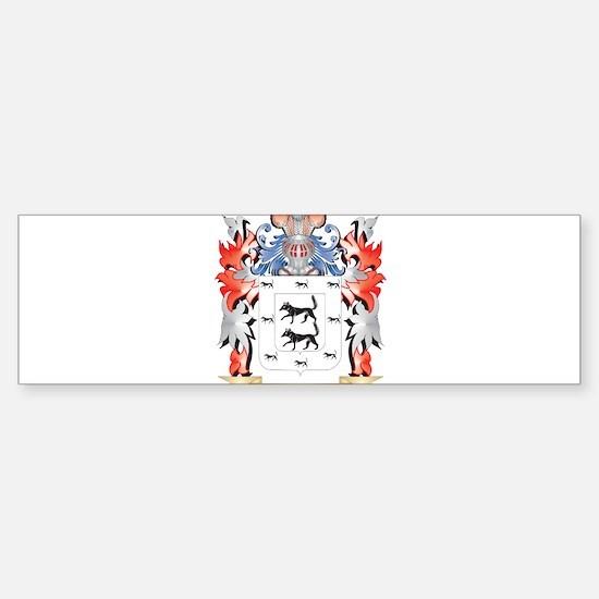 Lobos Coat of Arms - Family Crest Bumper Bumper Bumper Sticker