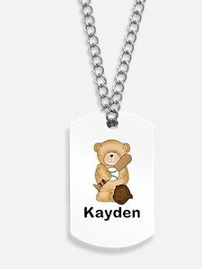 Kayden's Baseball Bear Dog Tags