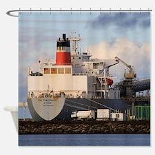 General cargo ship Shower Curtain