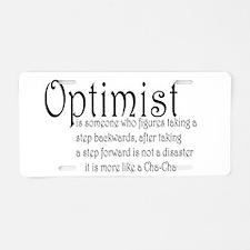 optimist Aluminum License Plate